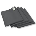 Mikrofaser Fenstertücher (4 Stück, 40x30cm, Anthrazit) ULTRA CLEAR compact