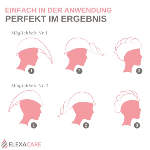 Mikrofaser Haarturban (ELEXACARE)