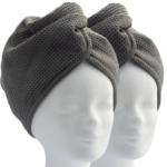 ELEXACARE Haarturban (2 Stück, grau)