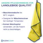 Mikrofaser Fenstertücher (3 Stück, 60x40cm, Gelb) ULTRA CLEAR classic