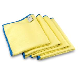 Mikrofaser Fenstertücher (4 Stück, 40x30cm, Gelb) ULTRA CLEAR compact
