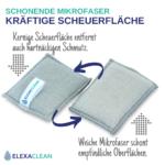 Spülschwamm waschbar (3er Set, 10×8 cm, Grau)