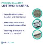 Waschbare Spültücher / Reinigungstücher – Mikrofaser (Grau, 4er Set, 24x20cm)