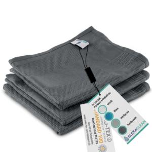 Mikrofaser Geschirrtücher (3er Set, 68×42 cm, anthrazit) – OEKO-TEX® STANDARD 100