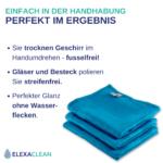 Mikrofaser Geschirrtücher (3er Set, 68×42 cm, blau) – OEKO-TEX® STANDARD 100