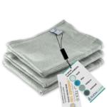 Mikrofaser Geschirrtücher (3er Set, 68×42 cm, silber-grau) – OEKO-TEX® STANDARD 100