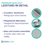 Universal Mikrofasertücher (Grau, 12 St, 30x30cm)
