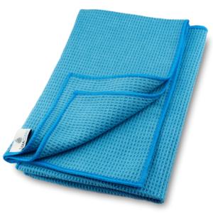 Mikrofaser Trockentuch, Waffeltuch (2 Stück, 60×40 cm, Blau)